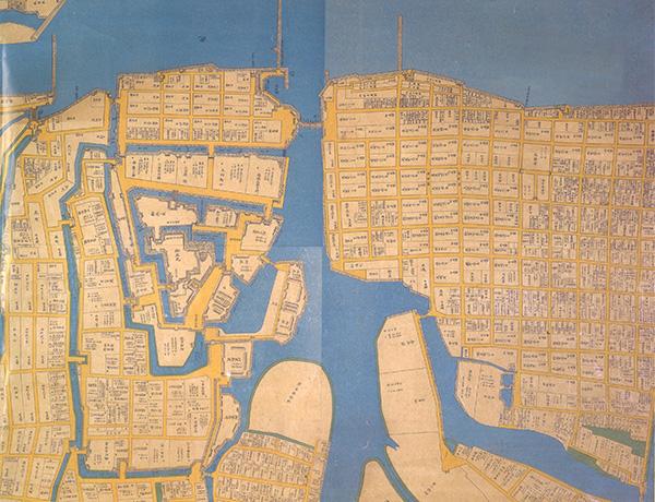 小倉藩士屋敷絵地図(江戸時代末期)